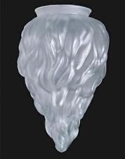 Lamp Shade Globe Satin Crystal Glass Stalactite 4 X 10 Flame Table Light Pendant