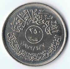 Iraq , Irak 250 Fils 7.4.1972 Münze Coin