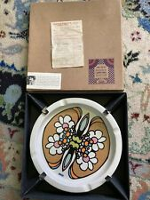 """PETER MAX Large 10"""" Clover Ashtray RARE BOX With 1969 Receipt W/Insert Beautiful"""