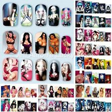 12 Sheets sexy cartoon design water transfer nail art decorations sticker decals
