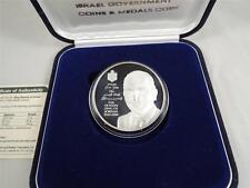 Israel 1999 King Hussein of Jordan Medal 50mm 60g Pure Silver + COA + Box  #01