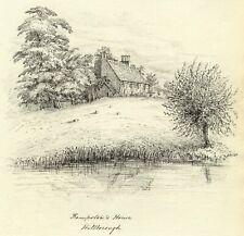 M.S. Smith, Kempston's House by Avon Hillborough Warwick -1870 pen & ink drawing