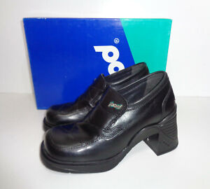 POD New Leather Ladies Boots Chunky Retro School Casual Shoes RRP £50 Size 6