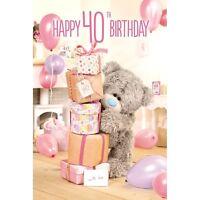 Happy 40th Birthday  - Medium 3D -  Tatty Teddy Me to You - Birthday Card