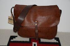 Ralph Lauren RRL Distressed 2-Tone Leather Shoulder Messenger Mailbag Bag