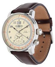 Zeppelin Herren Armbanduhr LZ126 Los Angeles dunkelbraun 8644-5