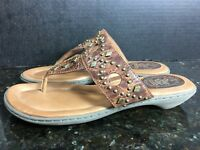 🔥Women's Ariat Embezzled Thong Light Brown Leather Sandal Size 8B🔥
