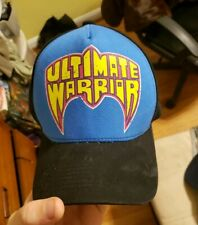 WWF WWE Ultimate Warrior Script Underbrim Graphic Snapback Hat Cap