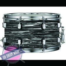 PRINTED BLACK OYSTER PEARL beatles DRUM WRAP ALL SIZES PLASTIC !