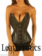 Leather Glamour Overbust Strap Basques & Corsets for Women