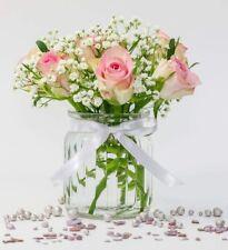 24x kleine MINI Vasen Konku Schleife Glas Flasche Deko set Hochzeit Blumen