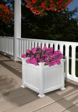 New England Arbors Decorative Vinyl Garden Patio CARDIFF Planter Flower Box Pot