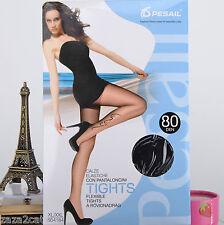 COLLANT Femme XL XXL 46 48 50 NOIR MAT 80 DENIERS TATOUAGE TYPHOON 2 ZAZA2CATS