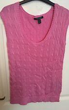 RALPH LAUREN Pink Knitted Jumper Size Medium