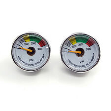 2pcs PCP Paintball 3000psi Mini Micro Manometre Manometer 1/8NPT