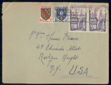 Mayfairstamps France to Roslyn Height Coat Arms Combo Cover wwh_33105