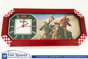 Vintage Marlboro Cigarette Advertising Clock Sign Shop Display Suit HDT Brock F1