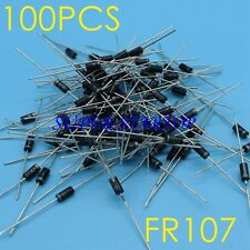 100 PCS  FR107 Diode, Fast Recovery 1A 1000V