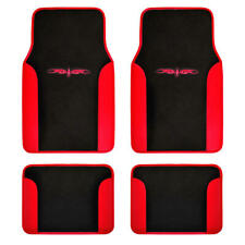 CarXS Tribal Design Carpet Floor Mats Heel Pad for Car Truck SUV 4pc Set Red
