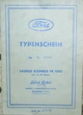 * Ford Taunus Kleinbus FK 1000 1500 ccm 1957  Österr. Typenschein SAMMLER *