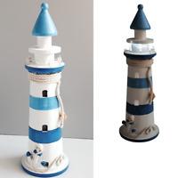 Maritimer Leuchtturm mit Beleuchtung Maritim NEU 45 cm LED