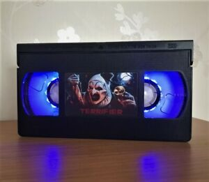 Terrifier Night Lamp, Horror Movie, VHS, Bed Light, Present, Gift, Lamp, Movie