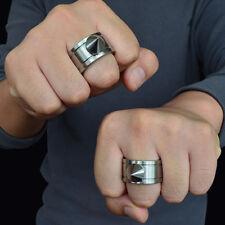 Outdoor Survival Tool Pocket Women Self Defense Ring Stainless Steel Spike