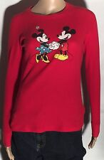 Minnie & Mickey Mouse Glitter Walt Disney Character Medium Light Shirt Pullover