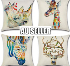 Cushion Cover Animal Print Waist Throw Pillow Case Home Giraffe Zebra Sofa Decor