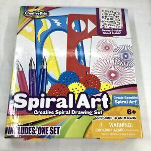 Creative Kid Spiral Art Set Drawing Fun Kids Bonus Sticker Sheet New