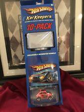 2004 Hot Wheels Kar Keepers 10 Pack With VW Baja Bug Vehicle new