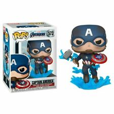 Funko POP !  Captain America broken shield Mjolnir 573 Marvel - Avengers Endgame