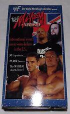 WWE WWF Mayhem In Manchester VHS Stone Cold Undertaker Ken Shamrock 30 Stars