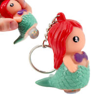 Pooping Mermaid Keychain Funny Toy Figurine Squeeze To Poop Out Glittery Wonder