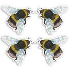 4 x Bumble Bee Vinyl Stickers - Insect Kids Science Nature Sticker #34609_5cm