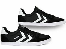 Hummel Slimmer Stadil Low Canvas Suede Sneakers Black White Schwarz 63-512-2113