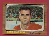 1966-67 OPC  # 51 RED WINGS BERT MARSHALL ROOKIE  CARD