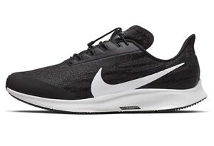 NIKE AIR ZOOM PEGASUS 36 FLYEASE Running Gym Trainers UK Size 8 (EUR 42.5) Black