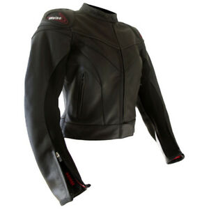 WEISE TORNADO LADIES LEATHER SPORTS MOTORCYCLE JACKET SIZE 16 RRP £229.99