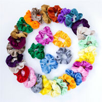 Set of 40 Women Hair Scrunchies Velvet Elastics Hair Ties Scrunchy Bands AU Post