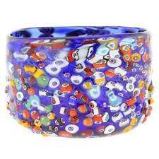 GlassOfVenice Murano Glass Millefiori Mosaic Bowl - Blue