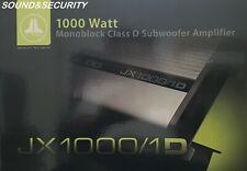 JL AUDIO JX1000/1D MONOBLOCK CLASS-D SUBWOOFER AMPLIFIER 1000W RMS X 1 @ 2-OHMS