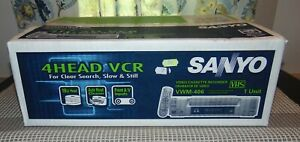 NEW! NEVER OPENED! Boxed SANYO 4 Head VCR VWM-406 With REMOTE
