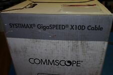 SYSTIMAX® Commscope 2091B GigaSPEED® X10D Cat6 6A White PLENUM CABLE 466ft