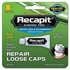 6 Pack Dentemp Recapit Repair Loose Caps 1g - New Item