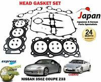 FOR NISSAN 350Z Z33 3.5 VQ35DE 2003-2007 NEW CYLINDER HEAD GASKET SET