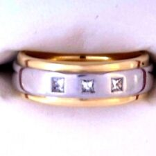 18 ct 18 K 750 Gold Diamond Ring - Super Heavy - NOT 9 ct