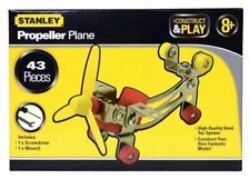 NEW STANLEY CONSTRUCT AND PLAY PROPELLER PLANE 43 PIECES SET HQ STEEL AGE 8+