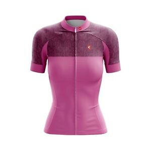 Women Cycling Jersey Bicycle Sportswear Top Clothing Short sleeves Pink