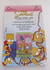 The Simpsons Prepaid Phone Card Bart Simpson 1995 Sealed / Unopened